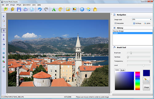 Screenshot vom Programm: Home Photo Studio