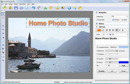 Home Photo Studio Screenshot