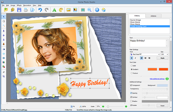 Making a greeting card